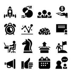 Startup business icon set vector