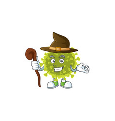 Sweet and tricky witch global coronavirus outbreak vector
