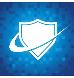 Swoosh Shield Icon vector image