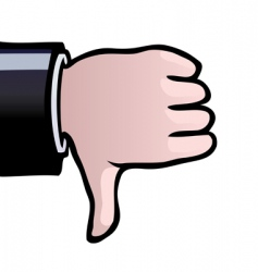 thumbs down vector image