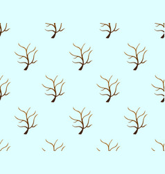 Tree stripped bare on blue background vector
