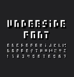 underside font alphabet vector image