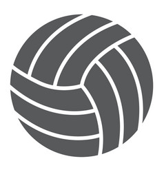 volleyball glyph icon game and sport ball sign vector image