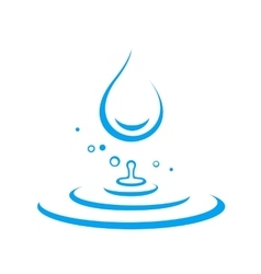 water drop and splash vector image