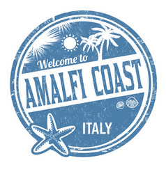 Welcome to amalfi coast sign or stamp vector
