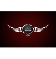 Wings steel symbol vector