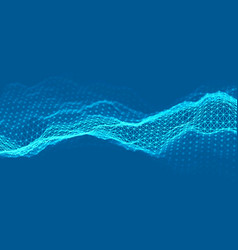 woice wave background eps 10 abstract vector image