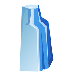 blue transparent uneven ice glacier piece isolated vector image