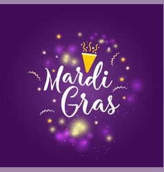 carnival mardi gras greeting card with typography vector image
