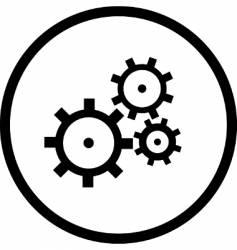 gearswheel logo vector image vector image