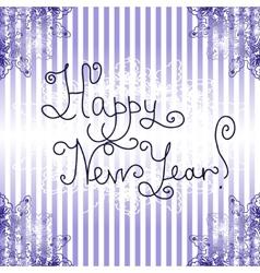 Happy New Year Card vintage design vector image