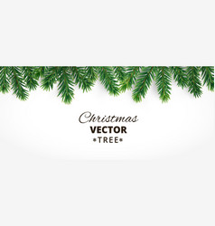 horizontal banner with christmas tree vector image vector image