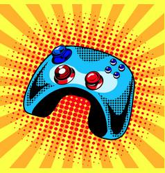 joystick comic book style vector image