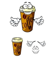 Takeaway cup of coffee vector