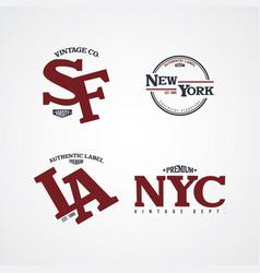 united states of america varsity badge vector image