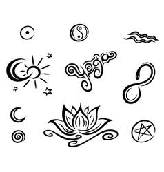 Yoga design elements vector image vector image