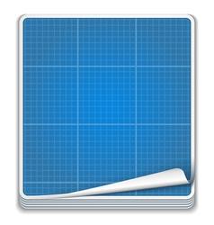 Blueprint Icon vector image vector image