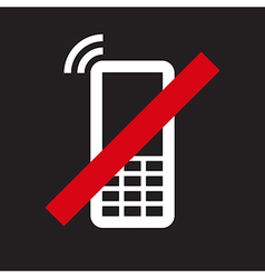Mobile phone prohibited vector