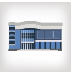 modern house isolated on vector image vector image