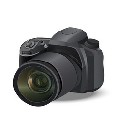 realistic camera vector image