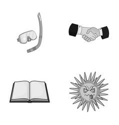 sport educatio and other monochrome icon in vector image vector image