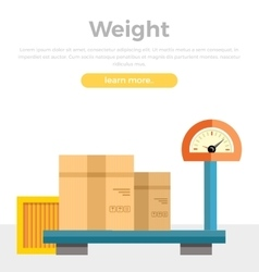 Weight Concept Web Banner in Flat Style Design vector image vector image