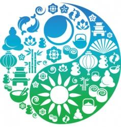 Ying Yang symbols vector image