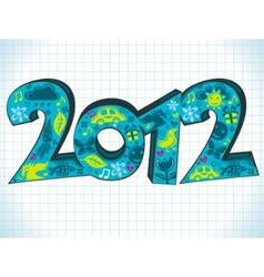 2012 greeting card vector image