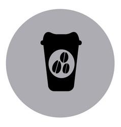 blue contour coffee espresso icon vector image