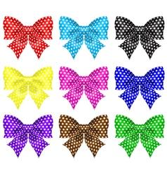Bows with polka dot vector