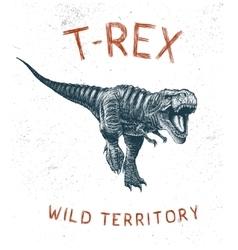 Dinosaur T-Rex running vector image