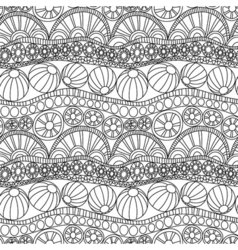 Doodle abstract seamless ornament Coloring page vector image vector image