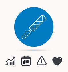 file tool icon carpenter equipment sign vector image