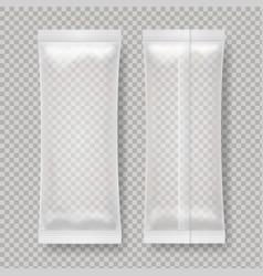 transparent blank foil food package for snack vector image