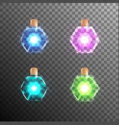christmas light bulb vector image vector image