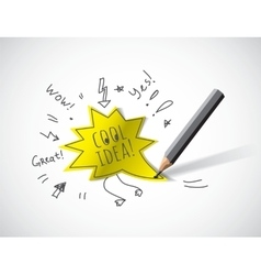 Cool idea doodles draw and shadow vector image vector image