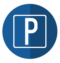 Parking sign road street vehicle shadow vector