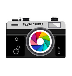 retro film photo camera vector image vector image