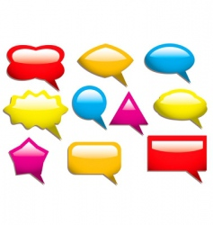 speech bubbles solid vector image