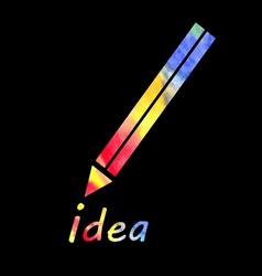 symbol of a pencil vector image