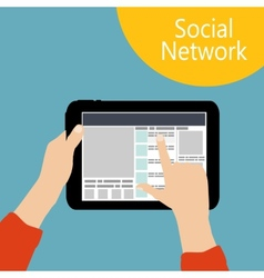 Using Social Network Concept Flat vector image vector image