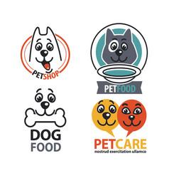 vet shops veterinary clinics and homeless animals vector image vector image