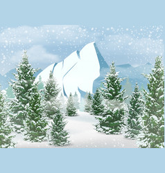 winter mountains landscape vector image vector image