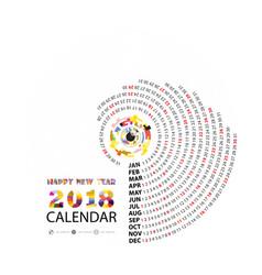 2018 calendar templatecalendar for 2018 year vector image
