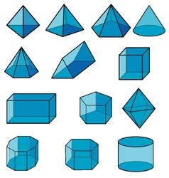 3d geometric for kid vector