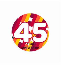45 year anniversary purple template design vector