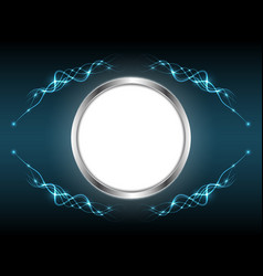 abstract white board light line element shape vector image vector image