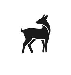 Animal wild deer logo sign vector