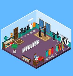 Atelier isometric design vector