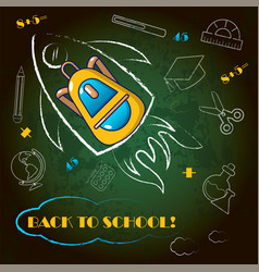 back to school board concept background cartoon vector image